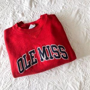 Tops - ole miss collegiate sweatshirt